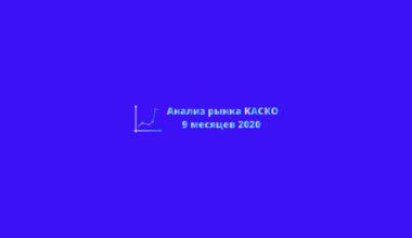 Анализ рынка страхования КАСКО за 9 месяцев 2020 года