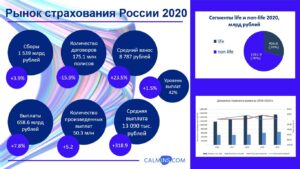 страхование показатели 2020 года